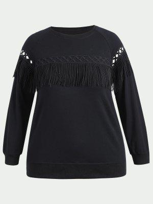 Sweat-shirt à Franges Grande Taille