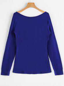 T-shirt à Manches Longues Sans Dossier - Bleu S