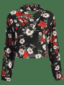 Choker Floral De M Blusa Flores Cropped Blusas wqtB1Tw