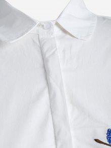 Bordada La Blanco En Grande De Camisa Talla 3xl Planta qZnXT7t