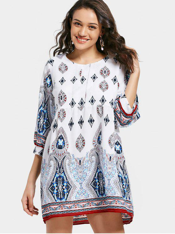 Vestido de estampado con estampado tribal - Multicolor 2XL