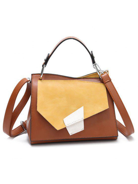 هندسي اللون حجب حقيبة يد - الأصفر