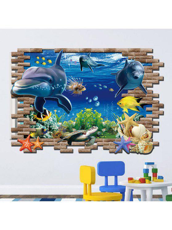 الغواصة العالم المطبوعة جدار الفن ملصق - مزيج ملون
