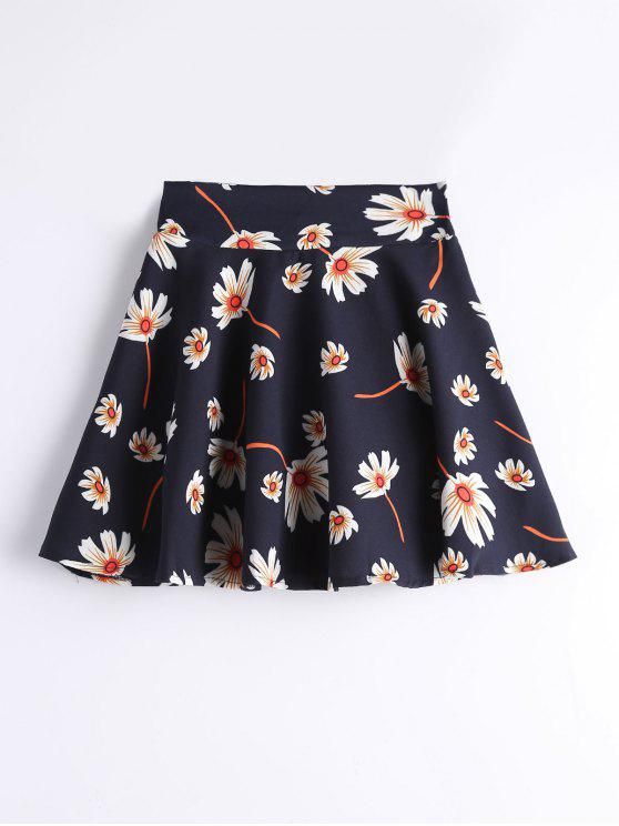 Pantaloncini Di A-Line Floreali A Vita Alta - Floreale M