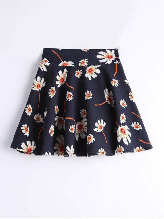 Jupe-Culotte Trapèze Florale à Taille Haute - Floral L