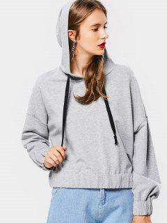 Loose Casual String Hoodie - Gray S