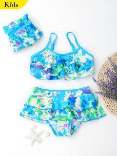 Bowknot Tie-Dyed Tiered Kinder Bikini - 6t