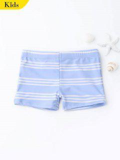 Striped Kids Swim Trunks - Light Blue 7t