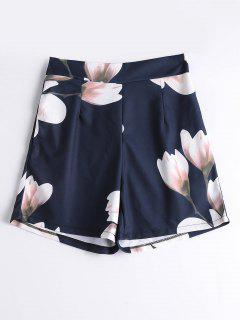 High Waist Floral Summer Shorts - Floral Xl