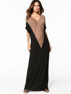 Two Tone Maxi Dress - Black Xl