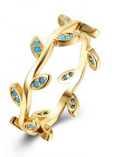 Bohemian Leaves Finger Circle Ring - Golden 7
