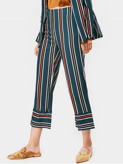 Pantalones rectos con cintura alta y noveno - Raya S Mobile