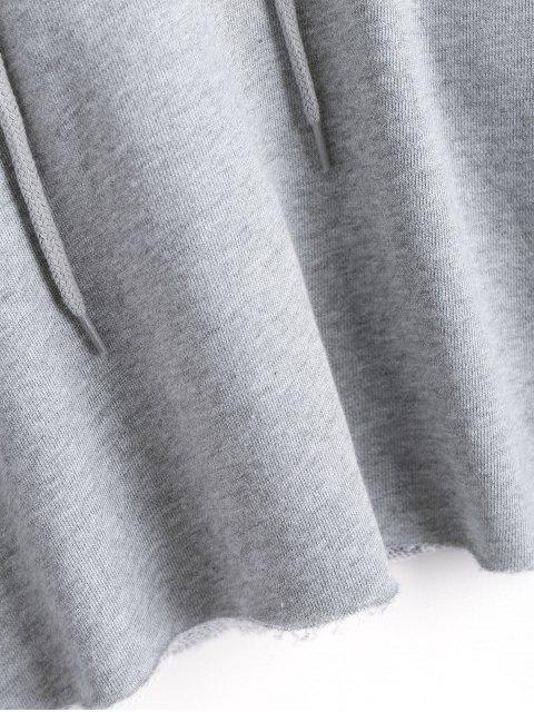 Pullover Cropped Sudadera con capucha deportiva - Gris M Mobile