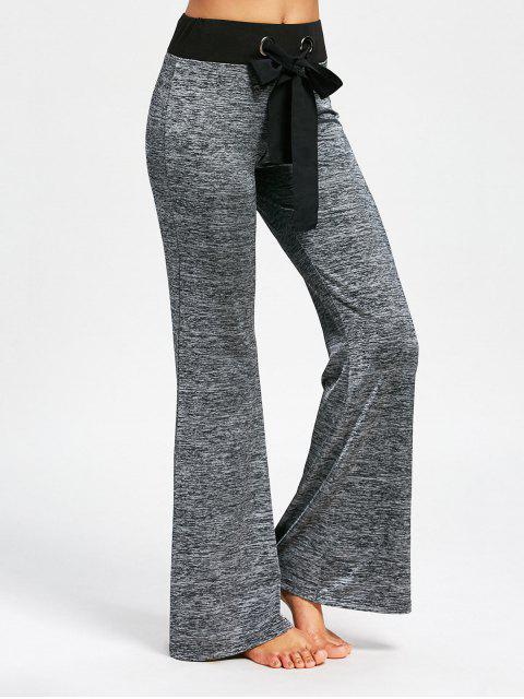 Pantalones grandes de cordón con cola larga - Ahumado gris L Mobile