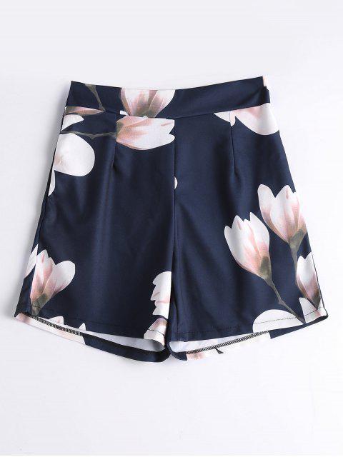 Pantalones cortos de verano con cintura alta - Floral S Mobile