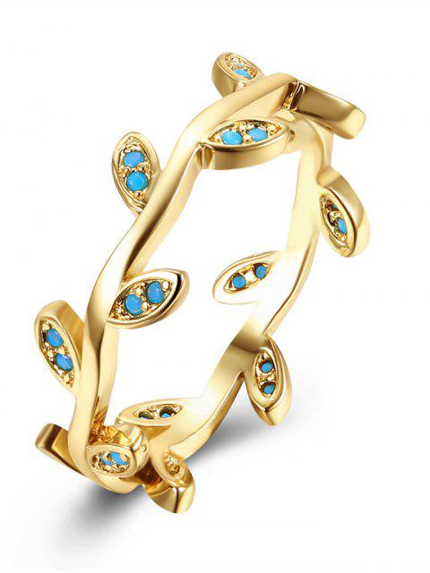 latest Bohemian Leaves Finger Circle Ring - GOLDEN 6 Mobile