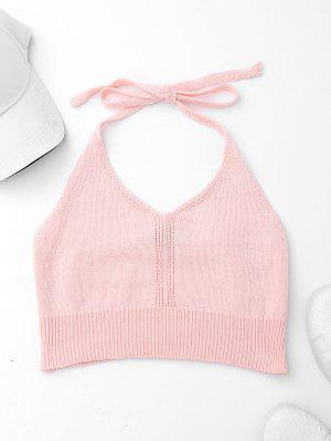 Knitted Halter Crop Top