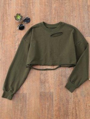 Cropped Ripped Sweatshirt