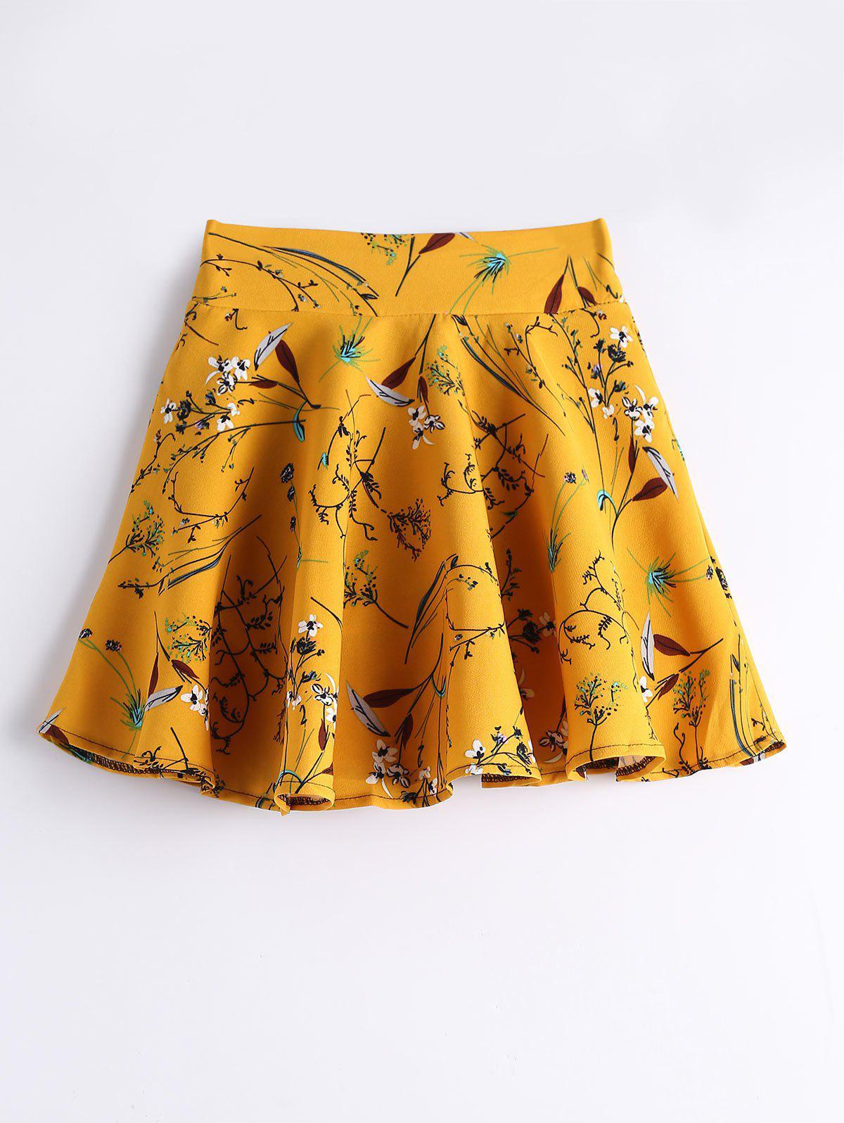 Pantalons taille haute floraux