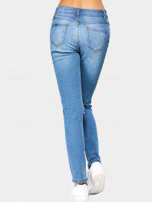 cut out jeans mit hoher taille blau jeans 2xl zaful. Black Bedroom Furniture Sets. Home Design Ideas