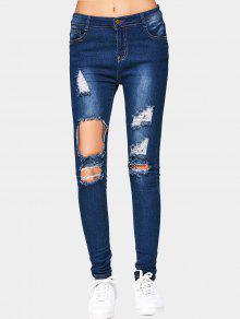 جينز ممزق قطع - ازرق غامق 2xl