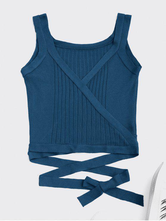 Wrap Camisetas sin mangas - Pavo Real Azul Única Talla