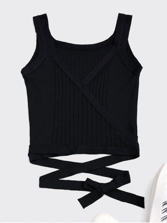 Wrap Knit Tank Top - Noir TAILLE MOYENNE