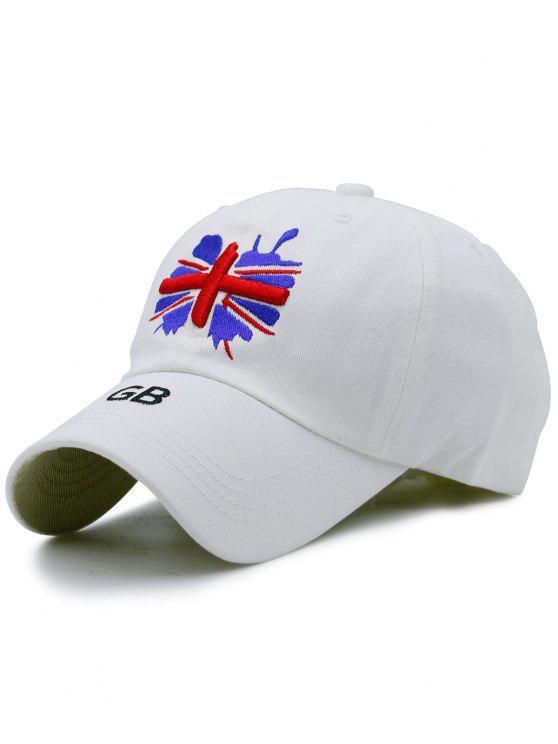 shops England Flag Embroidery Baseball Hat - WHITE
