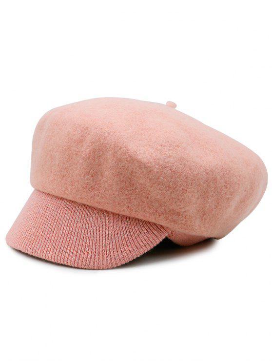 Wolle Blend Knit Newsboy Hut - Pink