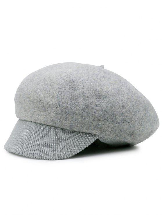 Cappello Da Strillone In Maglia Di Lana Mista - Grigio