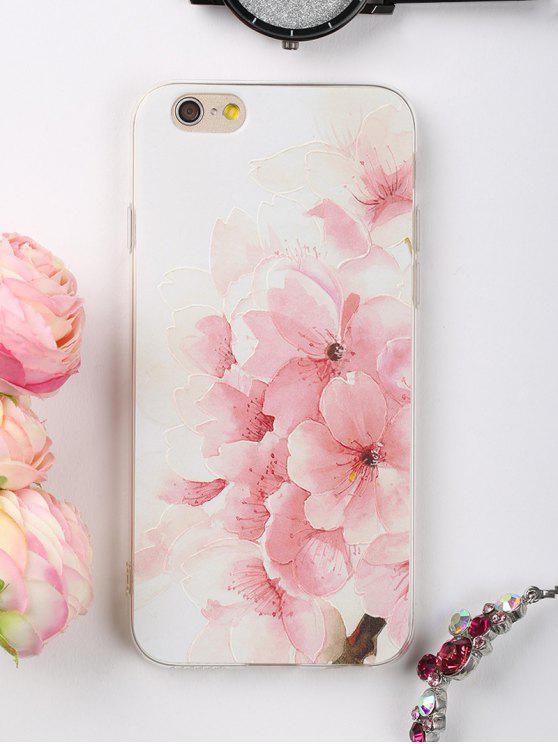 women's Peach Flowers Pattern Phone Case For Iphone - LIGHT PINK FOR IPHONE 6 / 6S