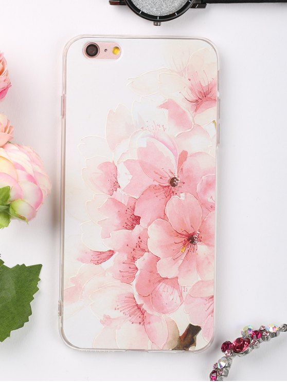 Peach Flowers Pattern Phone Case para Iphone - Rosa Claro Para IPHONE 6 PLUS / 6S PLUS