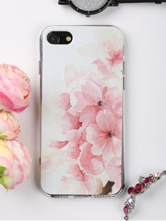 Peach Flowers Pattern Phone Case para Iphone - Rosa Claro PARA IPHONE 7