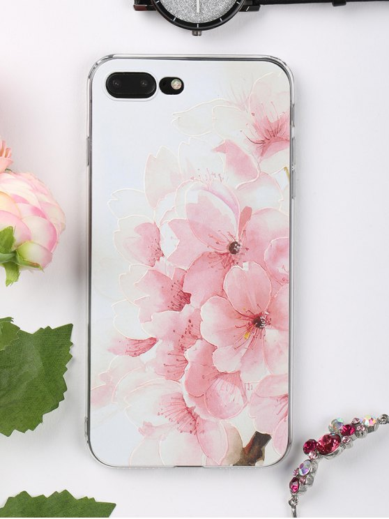 Peach flores patrón teléfono caso para iphone - Rosa Claro para iPhone 7 PLUS