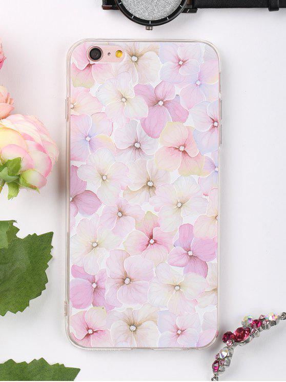 Étui de téléphone à motifs de fleurs pour iphone - Rose Léger  POUR IPHONE 6 PLUS / 6S PLUS