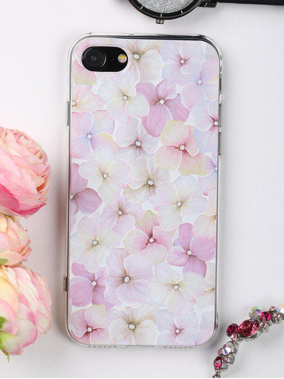 hot Flowers Pattern Phone Case For Iphone - LIGHT PINK FOR IPHONE 7