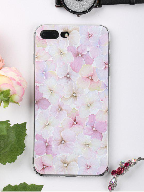 outfit Flowers Pattern Phone Case For Iphone - LIGHT PINK FOR IPHONE 7 PLUS