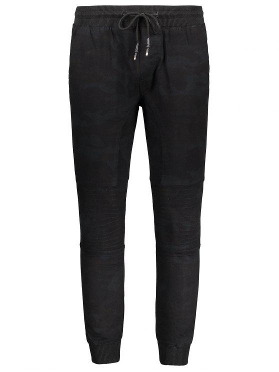 women Mens Jogger Pants - BLACK M