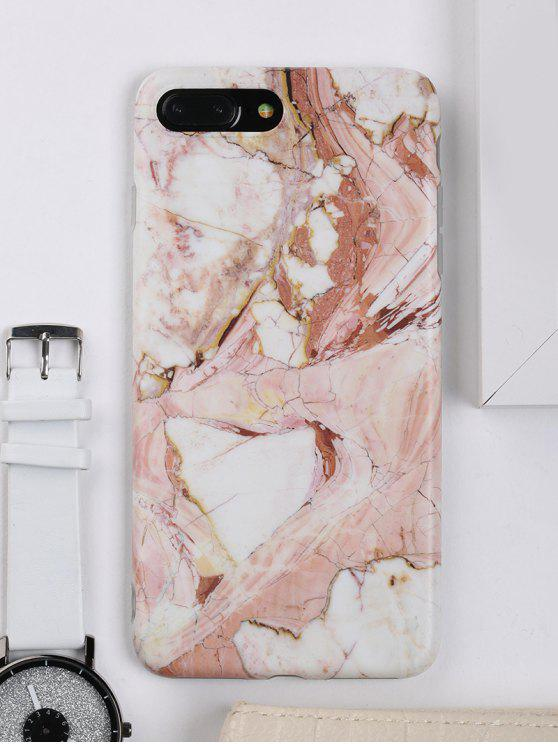 Caso di copertura del telefono di modello di marmo per Iphone - Marrone PER IPHONE 7 PLUS