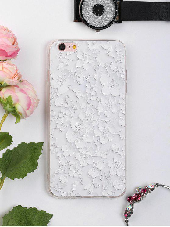 ladies Floral Leaf Pattern Phone Case For Iphone - WHITE FOR IPHONE 6 PLUS / 6S PLUS