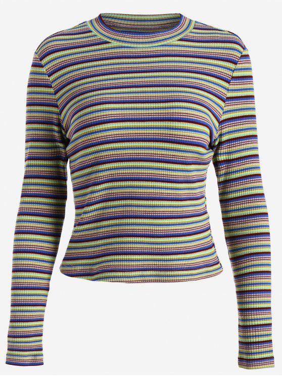 Jersey de cuello redondo - Multicolor S