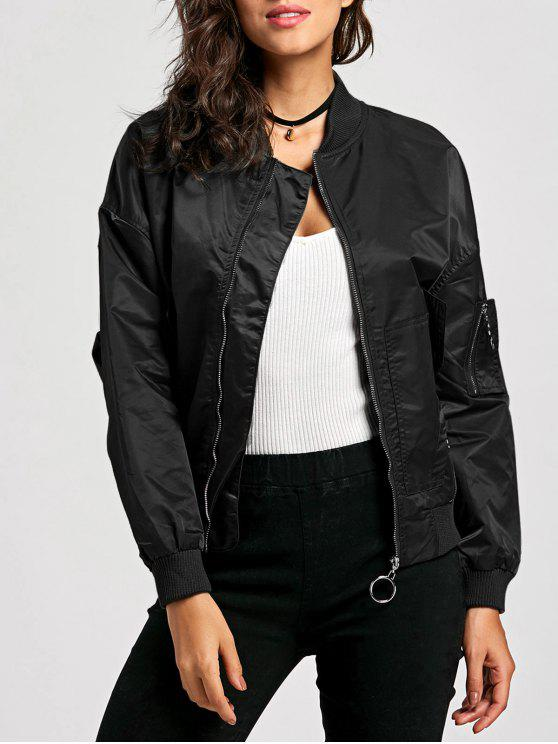 Zip Up Pilot Jacket - Noir S