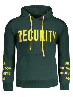 Front Pocket Recurity Graphic Hoodie - Green M
