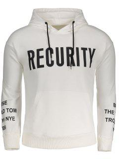 Front Pocket Recurity Graphic Hoodie - White M