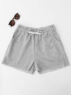 Marled Drawstring Sweat Shorts - Gray L
