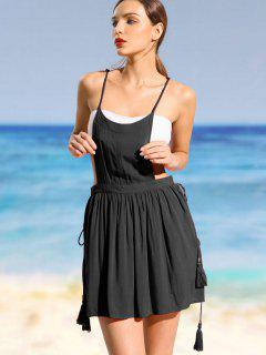 Cami Cover Up Overlay Dress - Black M