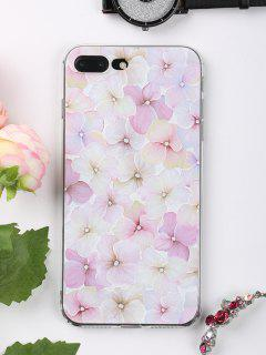 Flowers Pattern Phone Case For Iphone - Light Pink For Iphone 7 Plus