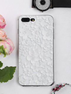 Floral Leaf Pattern Phone Case For Iphone - White For Iphone 7 Plus