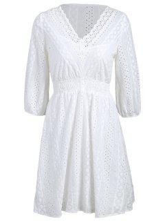 Robe Décontractée Robe à La Fourrure Avec Robe Cami - Blanc L