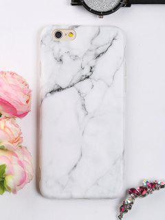 Marble Pattern Phone Case For Iphone - White For Iphone 6 / 6s